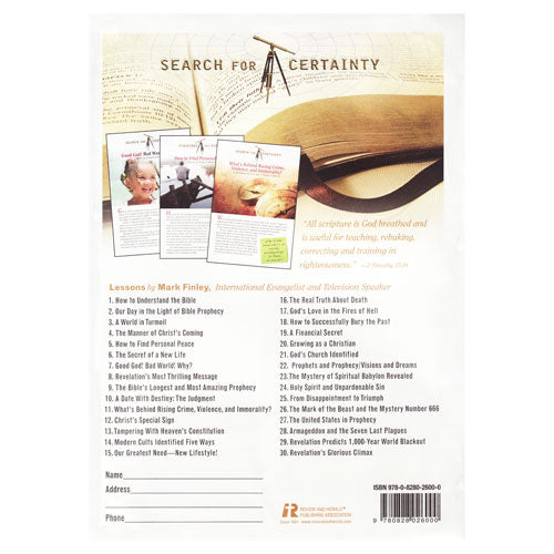 Search for Certainty Study Guides by Mark Finley