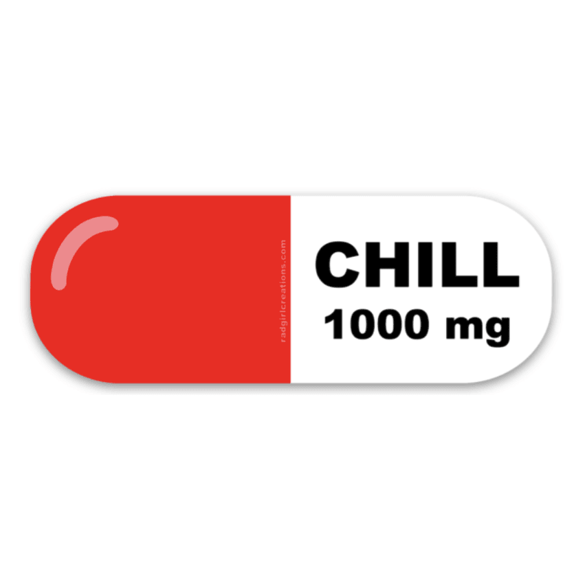 1000mg of Chill Decal - Rad Girl Creations
