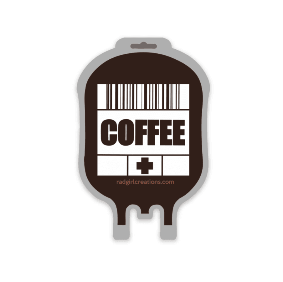 Coffee IV Stat Decal - Rad Girl Creations