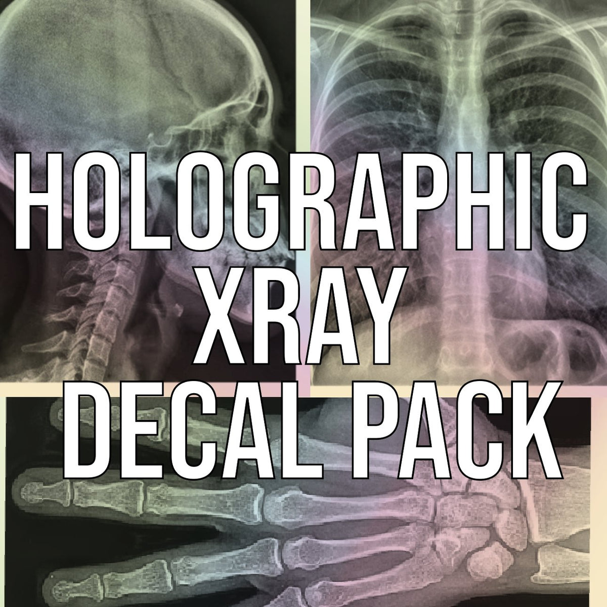 Holographic Xray Decal Pack - Rad Girl Creations