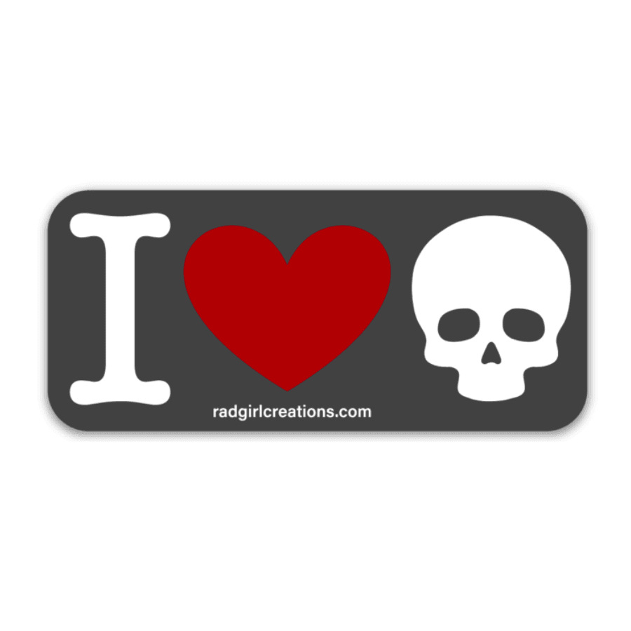 I Love Skulls Decal - Rad Girl Creations