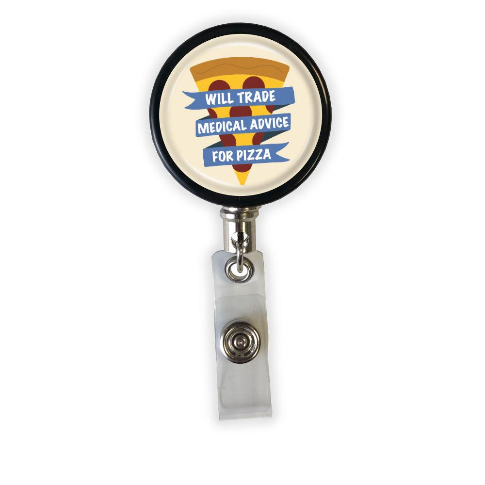 Medical Advice for Pizza Badge Reel - Rad Girl Creations