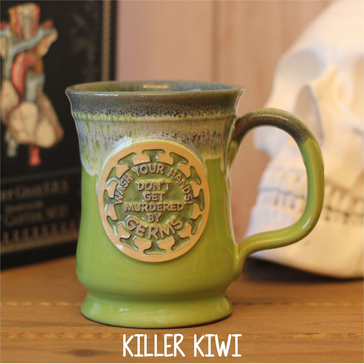 Murdered by Germs! Handcrafted Pottery Mug - Rad Girl Creations