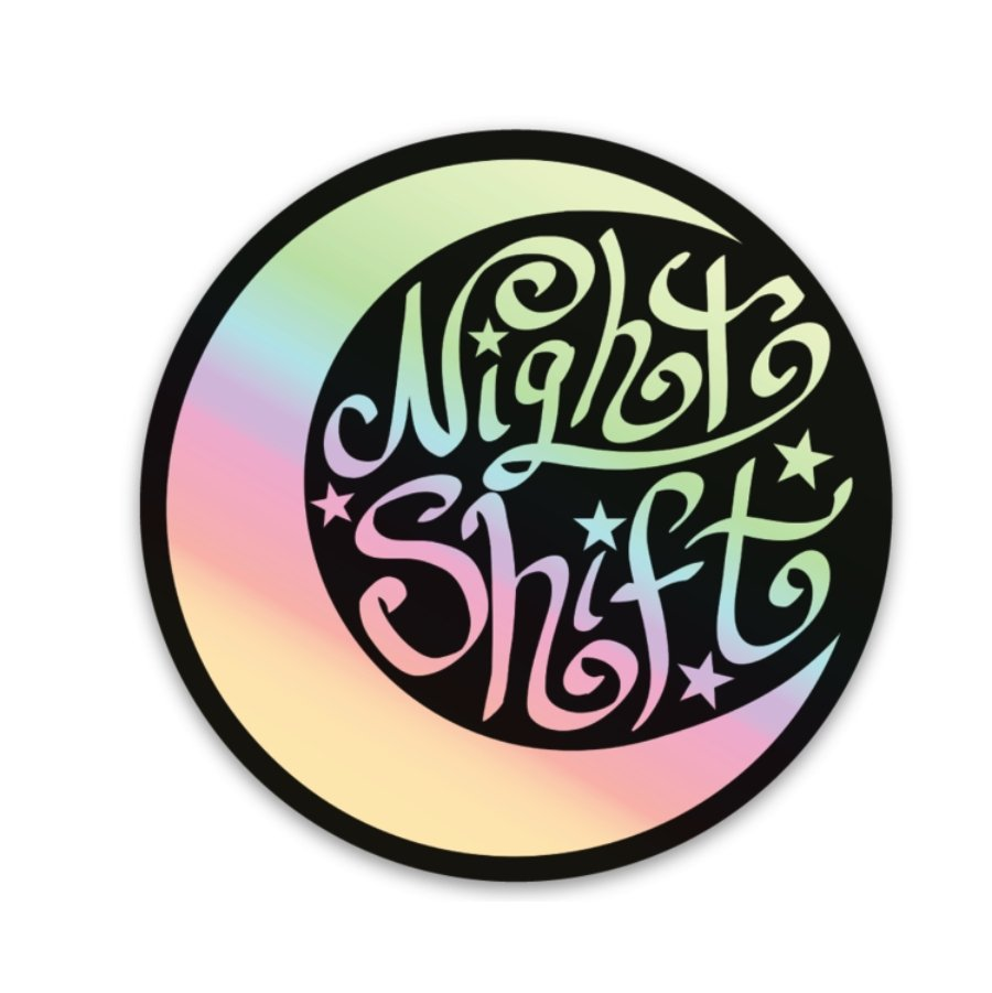 Night Shift Decal - Holographic! - Rad Girl Creations