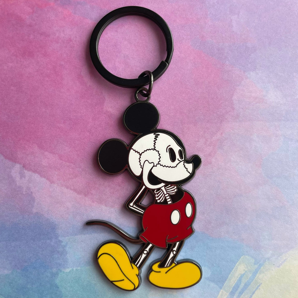 Skelly Mouse Keychain - Rad Girl Creations