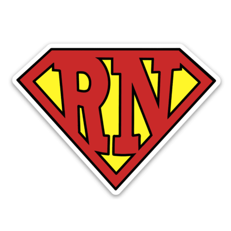 Super RN Decal - Rad Girl Creations