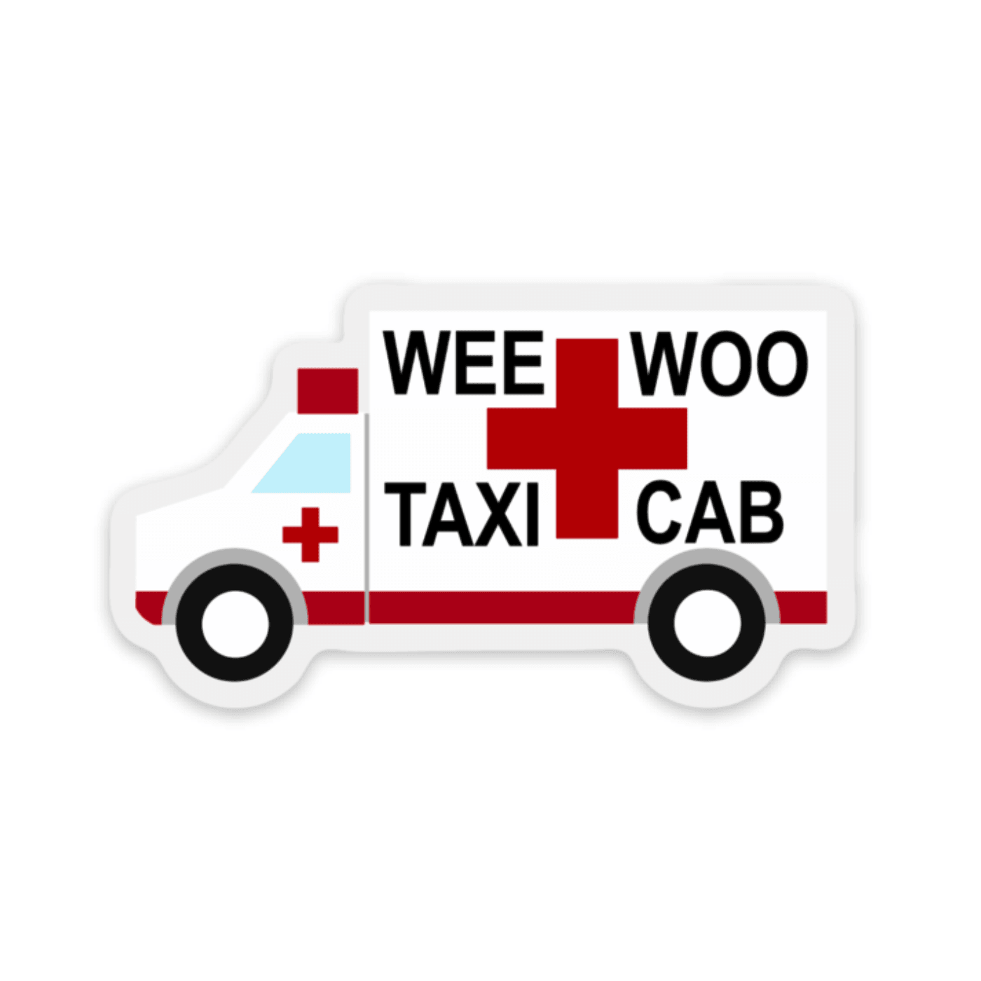Wee Woo Taxi Cab Decal - Rad Girl Creations