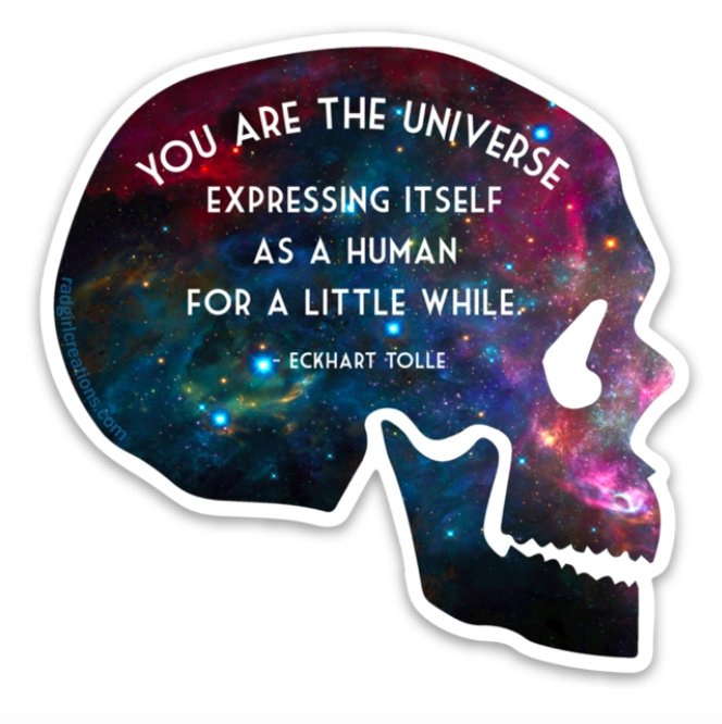 You Are Made of Stardust Decal - Rad Girl Creations