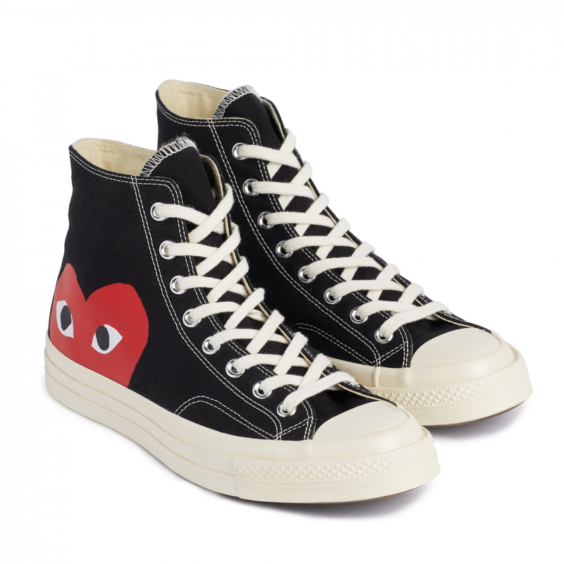 Converse x CDG red heart high-top