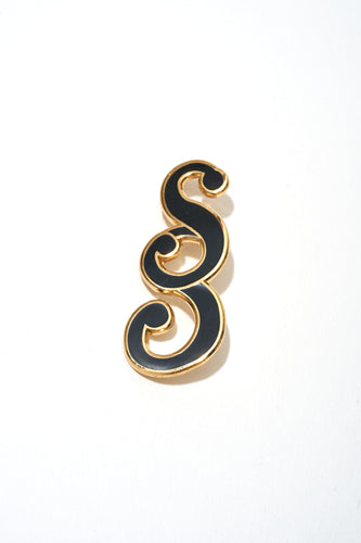 Double S (Black & Gold Pin)
