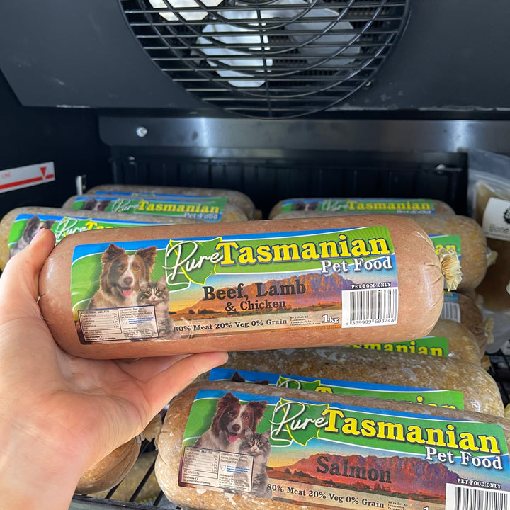 Beef, Lamb & Chicken - Pure Tasmanian Roll - Cooked - 1KG & 10KG