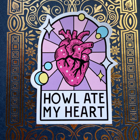 Howl Ate My Heart Vinyl Sticker