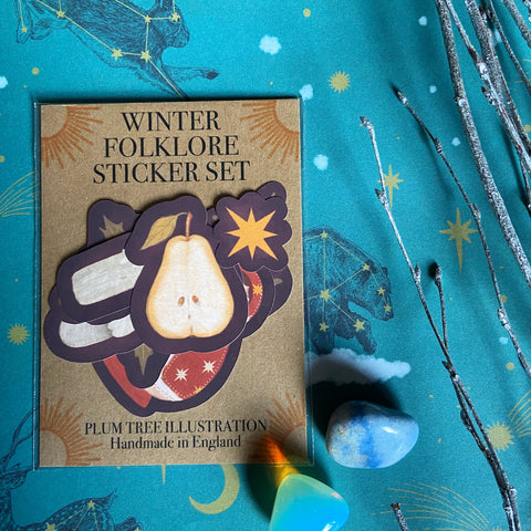 Winter Folklore Sticker Set
