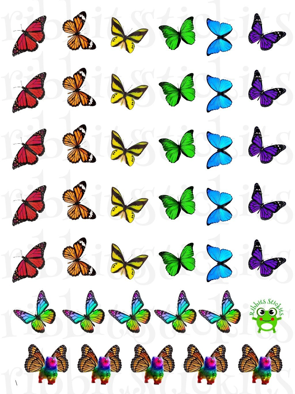 Rainbow of Flutterbys