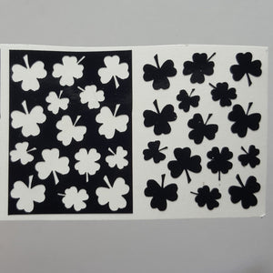 Fields of Clovers Vinyl Stencils