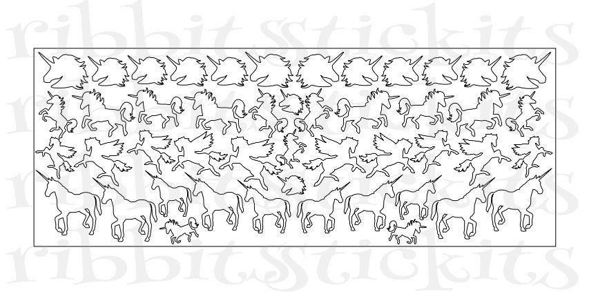 Unicorns & Pegasus Sticker Sheets