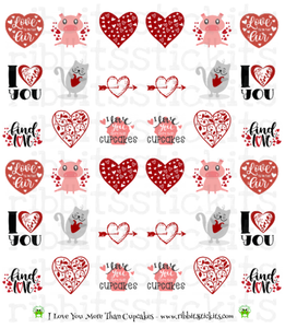 Just Love Me Up - All 6 New Vday Sheets