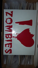 Load image into Gallery viewer, I <3 Zombies vinyl decal