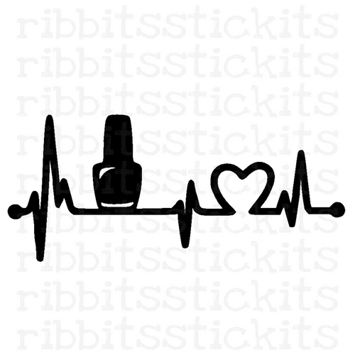 My Heartbeats for Polish Vinyl Sticker