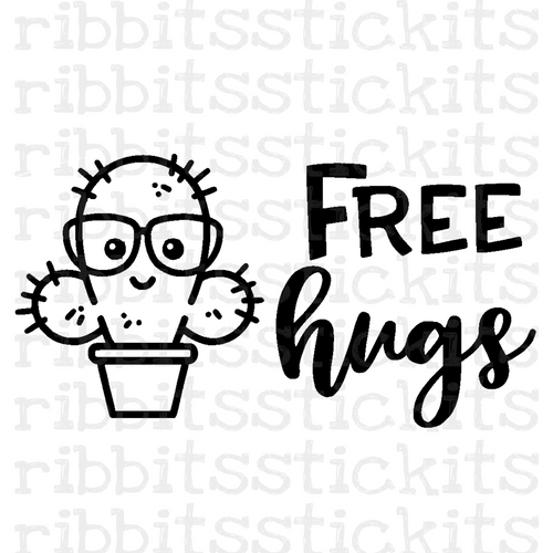 Free Hugs Vinyl Sticker