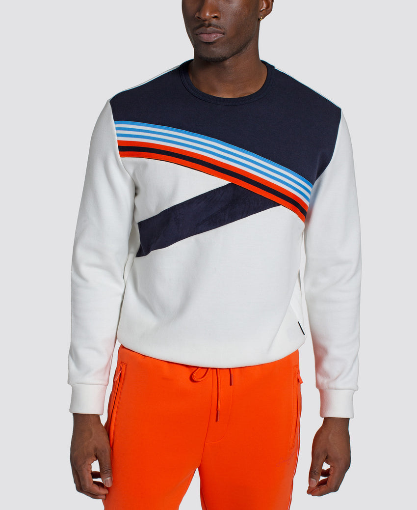 Angled Color Blocked Crew