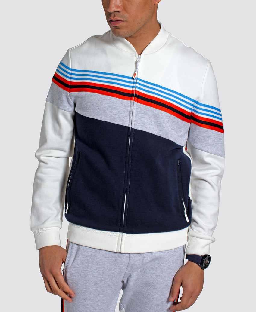 Angled Color Blocked Track Jacket