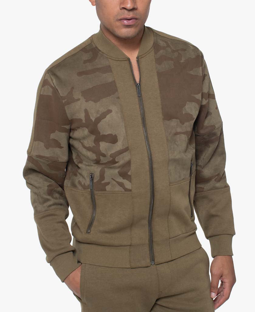 Camo Blocked Track Jacket
