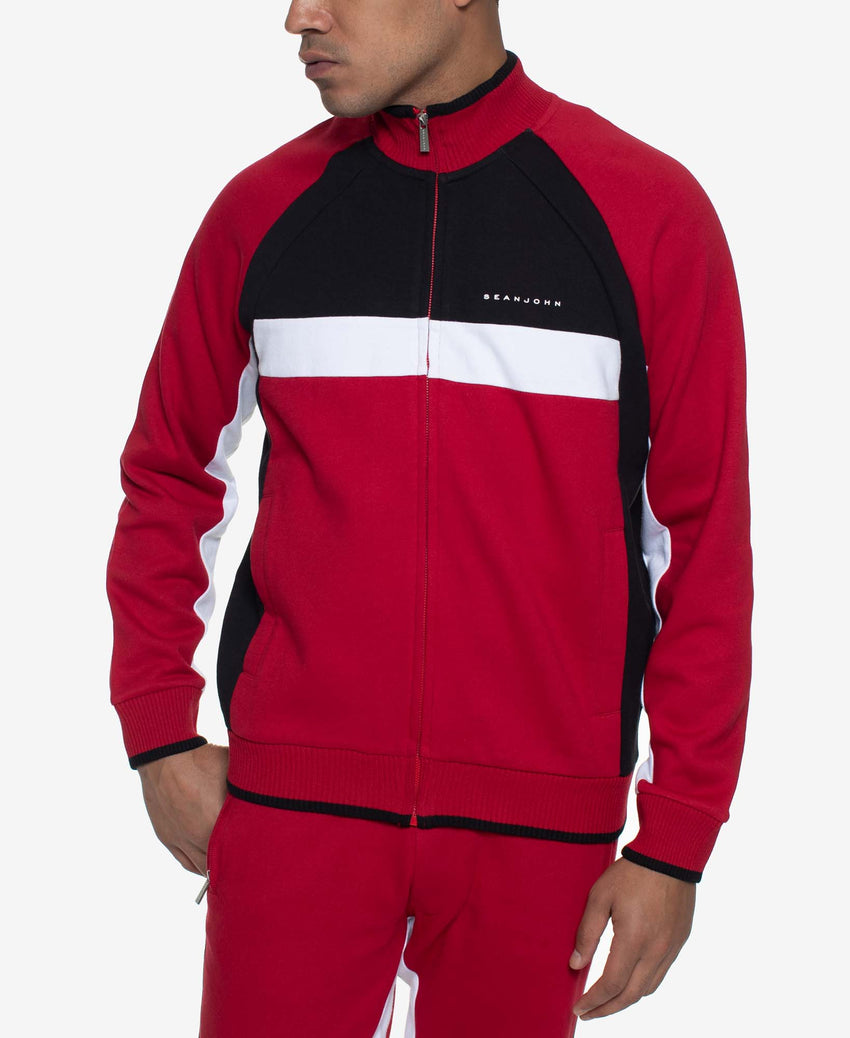 Color Block Track Jacket