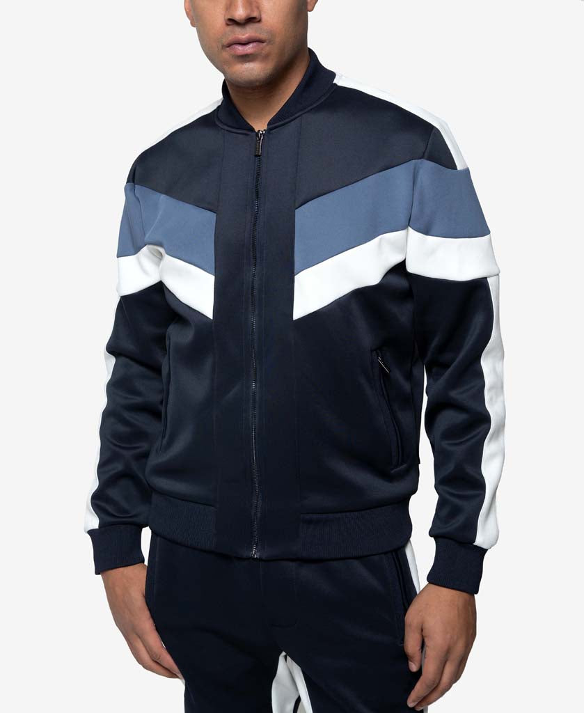 Colorblocked Neoprene Track Jacket