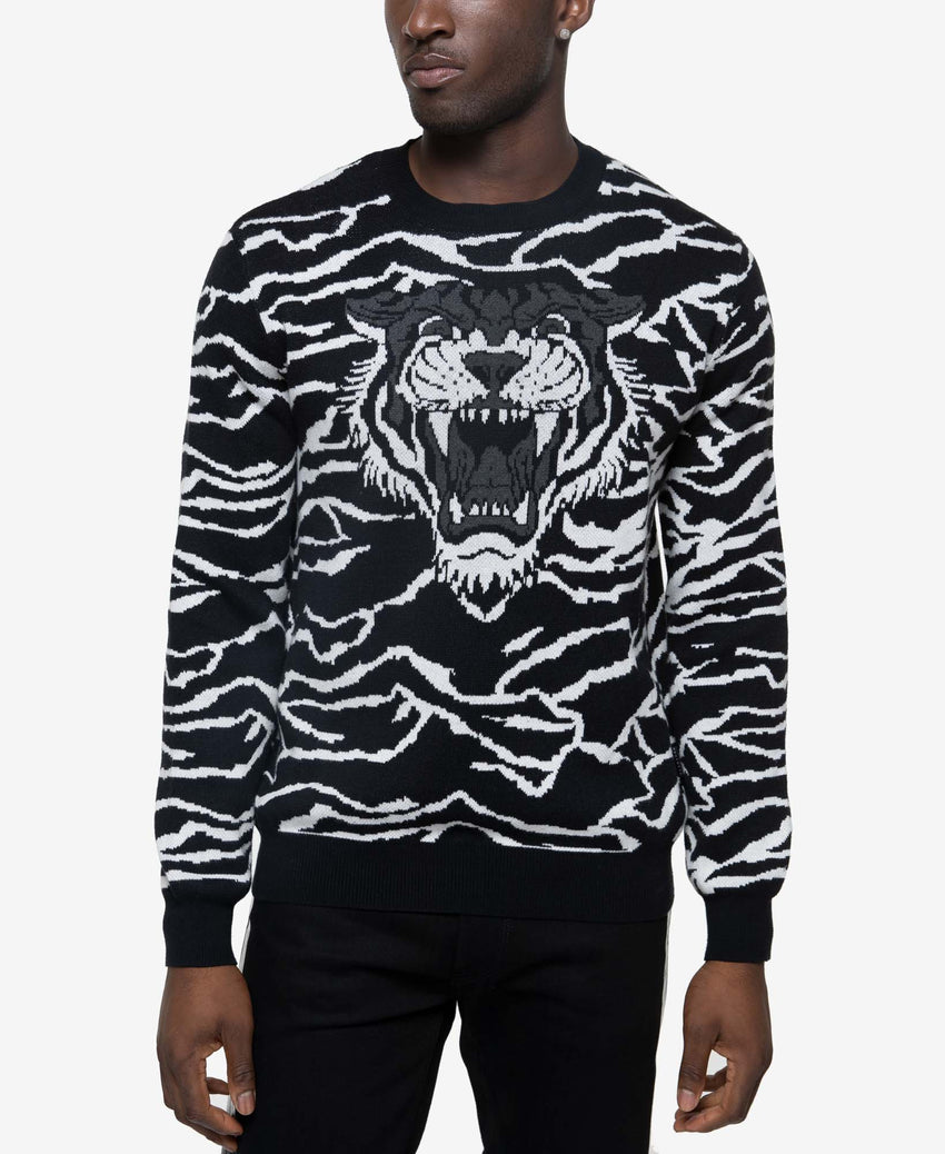 Jacquard Tiger Sweater