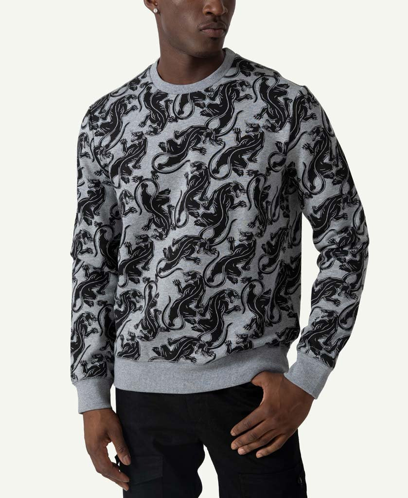 Allover Panther Sweatshirt