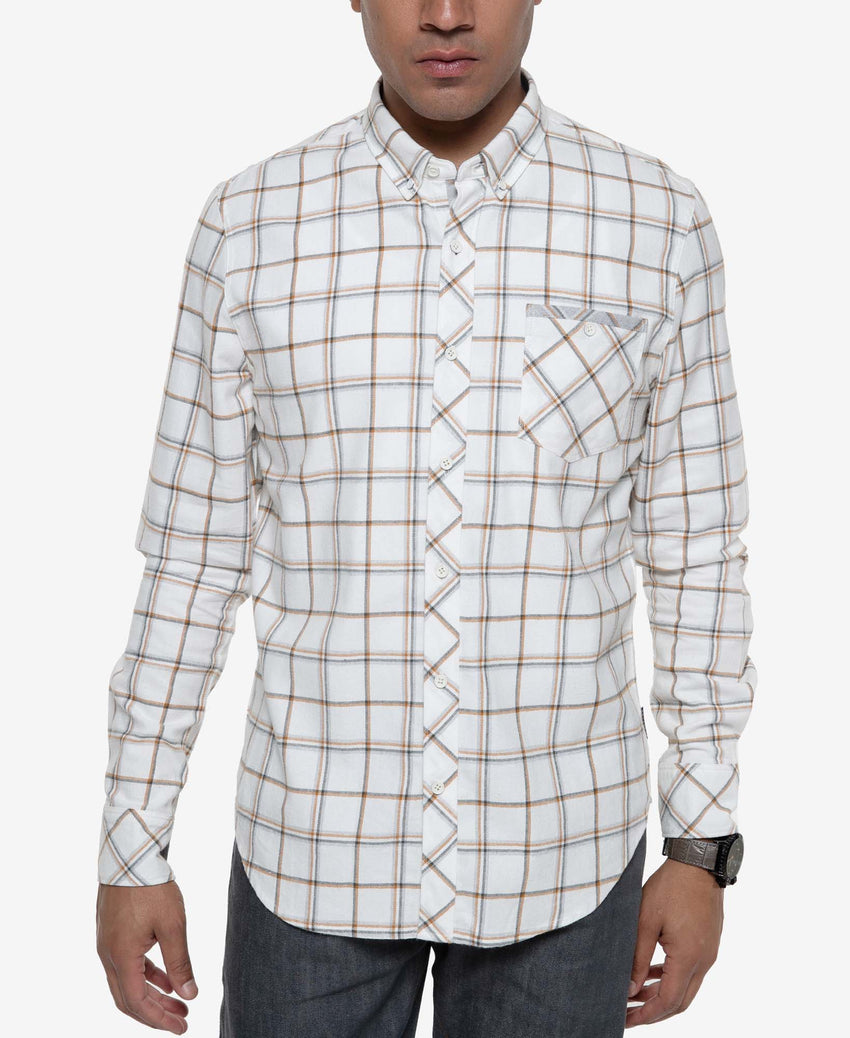 Long Sleeve  Heather Check Plaid Shirt