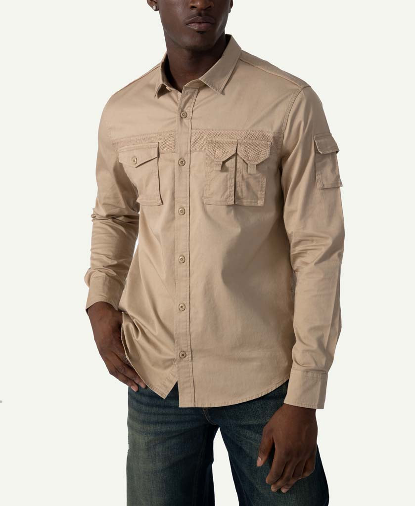 Long Sleeve Utility Flight Shirt