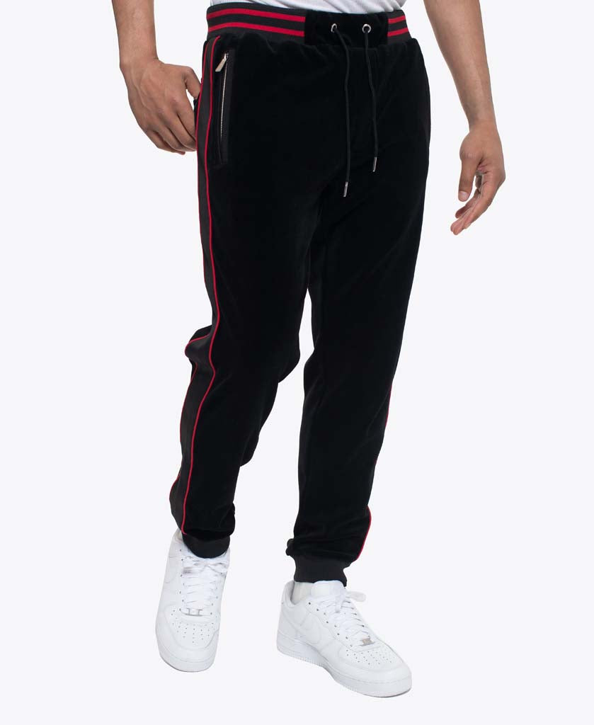 Velour Jogger with Neoprene and Velour piping