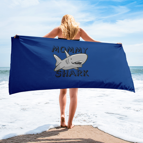 Mommy Shark Beach Towel