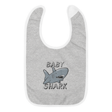 Baby Shark Embroidered Baby Bib