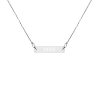 """MINI"" Engraved Silver Bar Chain Necklace"