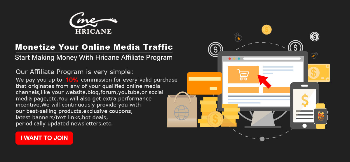 Welcome to Join Hricane Affiliate Program - Help You Make More Money