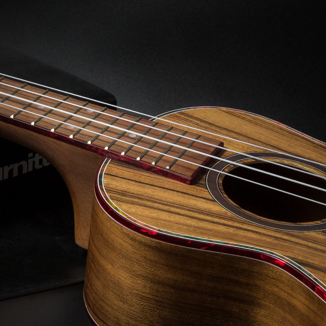 23 Inch Black Walnut Hawaiian Concert Ukulele with Ukulele Kit