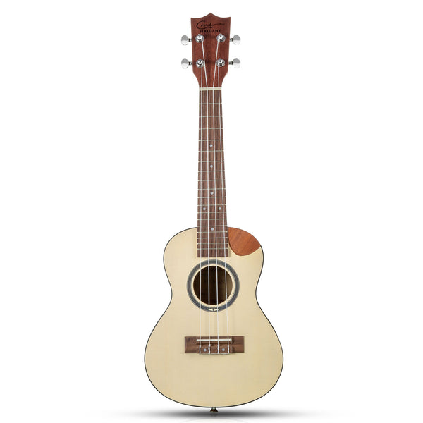23 Inch Spruce Top Walnut Cutaway Concert Ukulele with Ukulele Kit