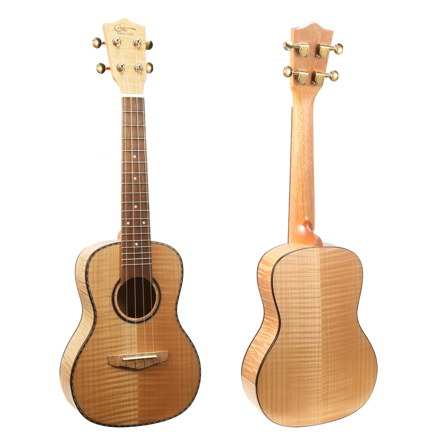 23 Inch Tiger Veins Maple Hawaii Concert Ukulele