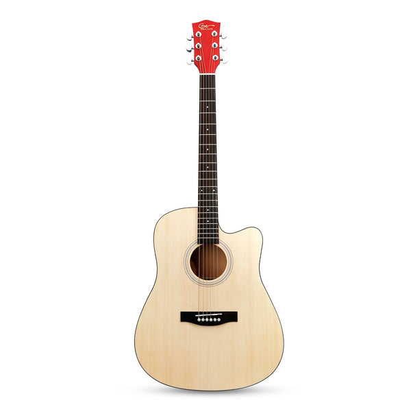 41 Inch Solid Spruce Top Folk Natural-Cutaway Acoustic Guitar