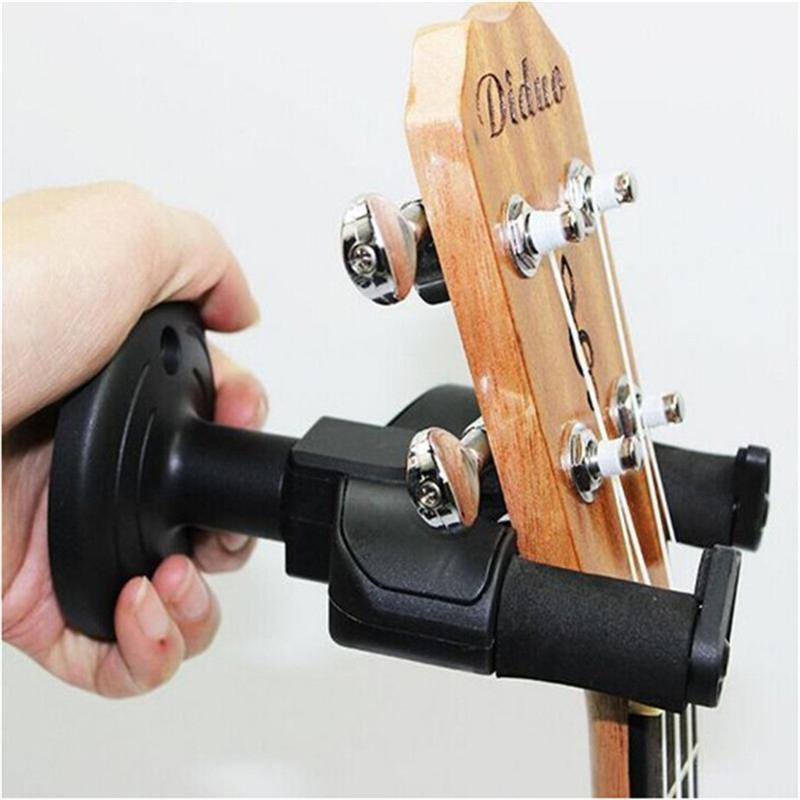 Guitar Ukulele Bass Wall Hanger Mount Holder Hook