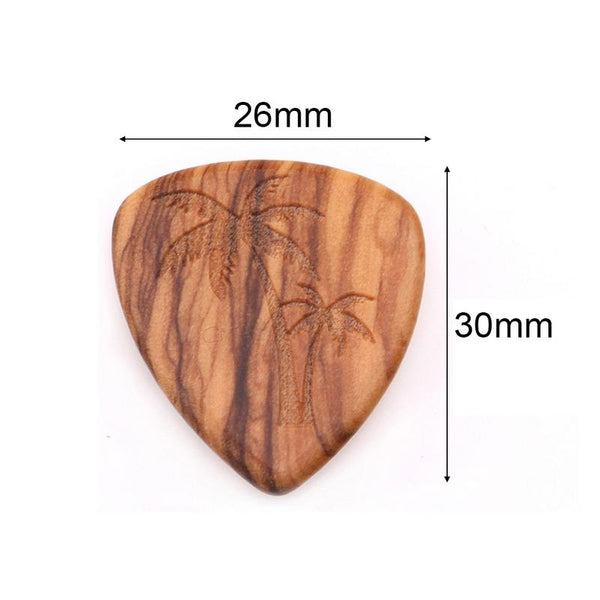 Solid Wood Finger Picks For Ukulele Guitar