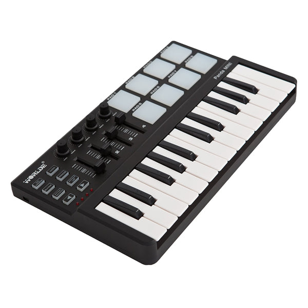 Portable Mini 25-Key USB Keyboard and Drum Pad MIDI Controller Professional Musical instruments