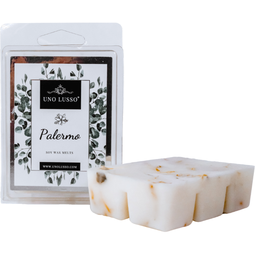 Palermo Luxury Wax Melts with calendula petal embeds