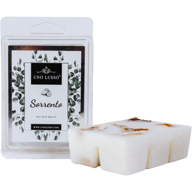 Sorrento Luxury Wax Melts with juicy lemon embeds