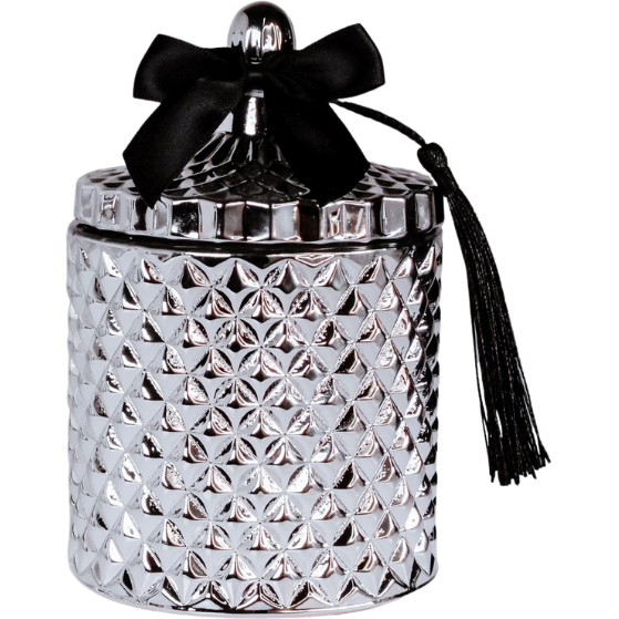 Silver Venetian Candle Jar by Uno Lusso