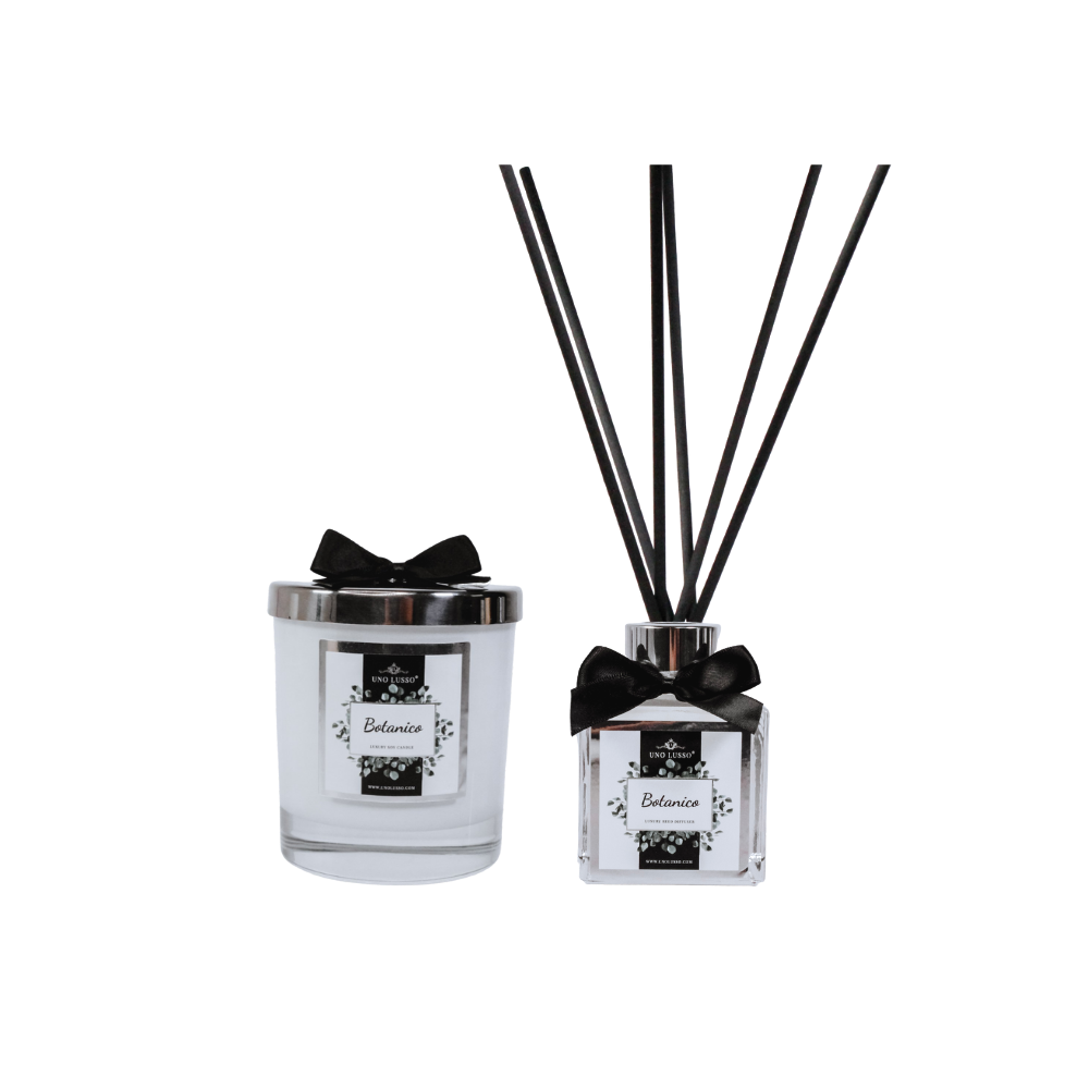 Calabria White Gloss Candle & Diffuser