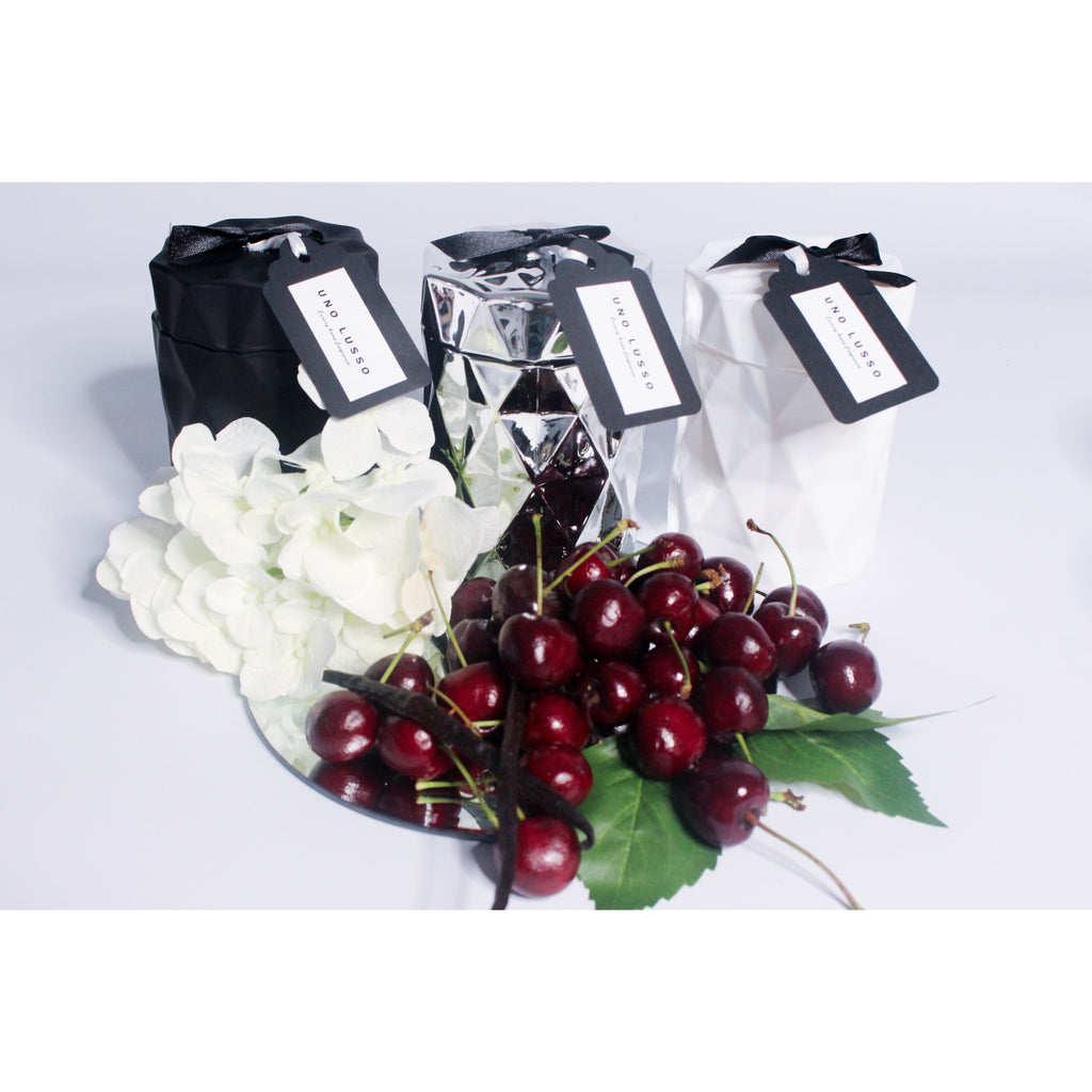Donatella Jewel Candle Jar - Bello Morello Soy Candle - Black Cherry